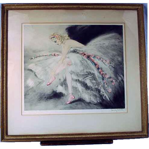 Original Louis Icart Fair Dancer 1939 Etching
