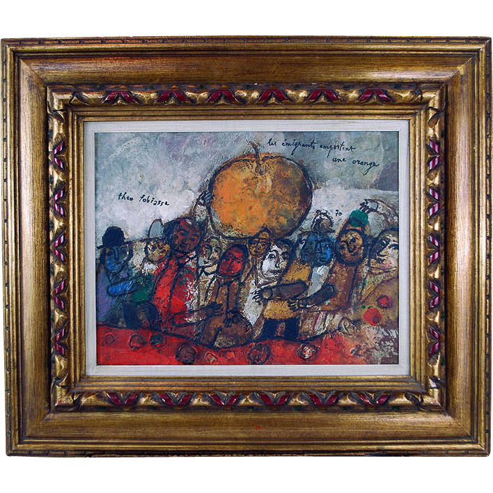 Theo Tobiasse 1927 Oil on Canvas European Painting