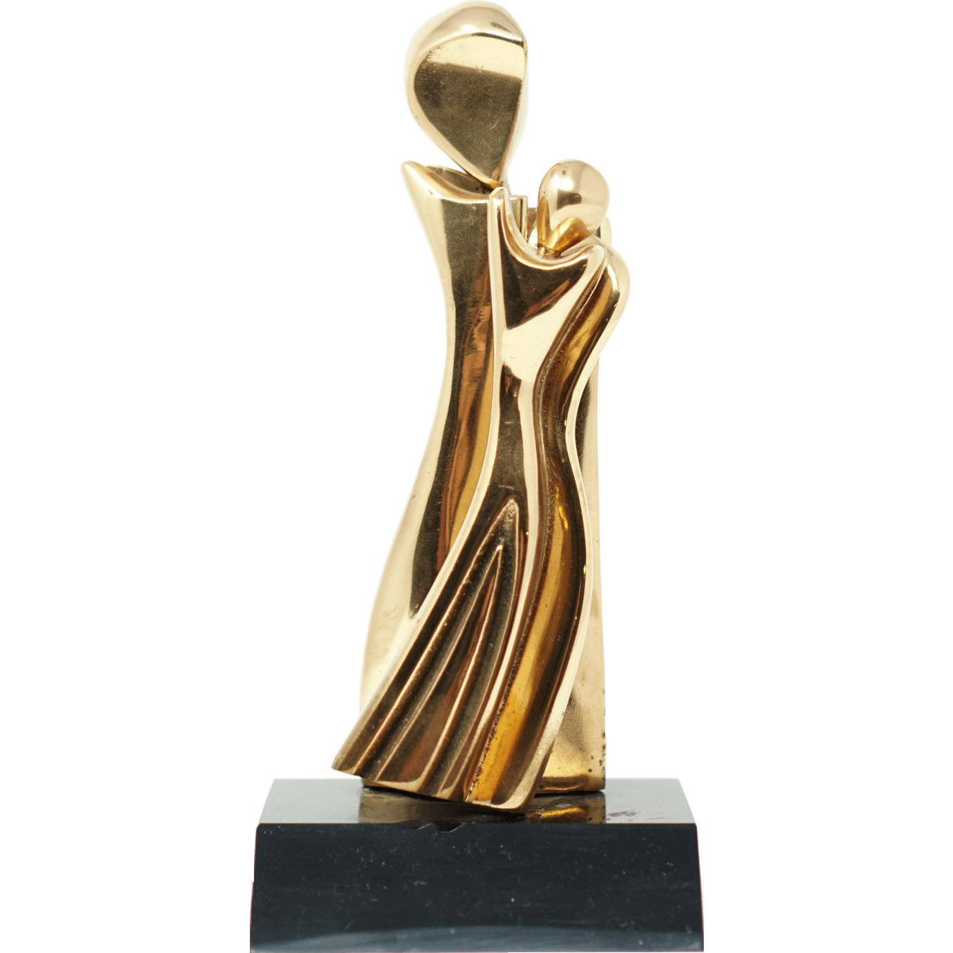 Edna Katz-Silver Mother and Daughter Bronze