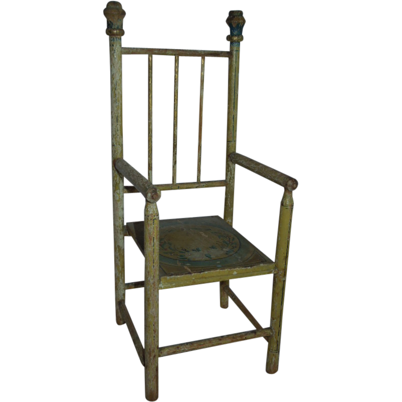EARLY and Wonderful Salesman Sample or Doll's Chair