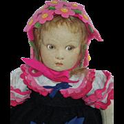 "Sweet 13"" Lenci Child 1930's"