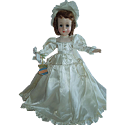 "LOVELY 18"" Rare Hard Plastic Little Bride by The Royal Doll Company New York c.1951-52"