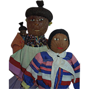 WONDERFUL Pair of Vintage Seminole Indian Dolls from Florida. C. 1940's
