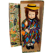 """AMAZING 19"""" Scowling Face Grugnetto 1500 series Lenci Doll ON LAY AWAY"""