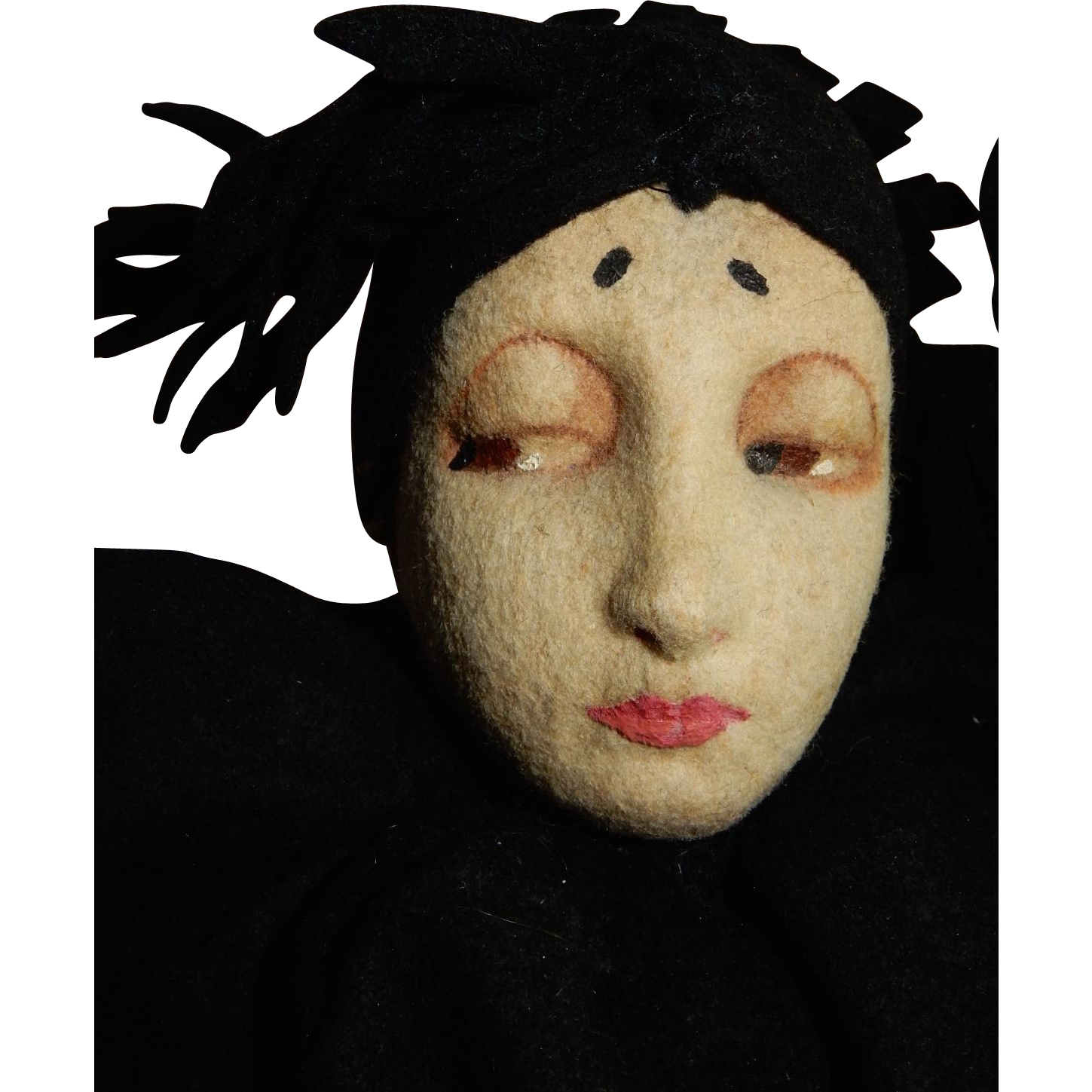"RARE 21"" Lenci Pierrot Character  Doll c.1925"