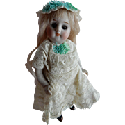 "ADORABLE 5"" Swivel Neck Kestner All Bisque Doll"
