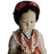 PRETTY 1930's-40's Lenci Regional Doll with Oranges