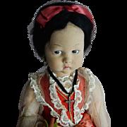 PRETTY 1930's-40's Lenci Regional Doll with Oranges