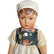 "CHARMING 10"" Bing Art Doll Peasant Girl"