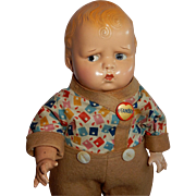 "RARE All Original 14"" Effanbee Baby Grumpy"