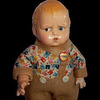 """RARE All Original 14"""" Effanbee Baby Grumpy"""