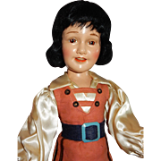 "WONDERFUL and RARE 21"" Ideal Gulliver's Travels/Deanna Durbin Doll"
