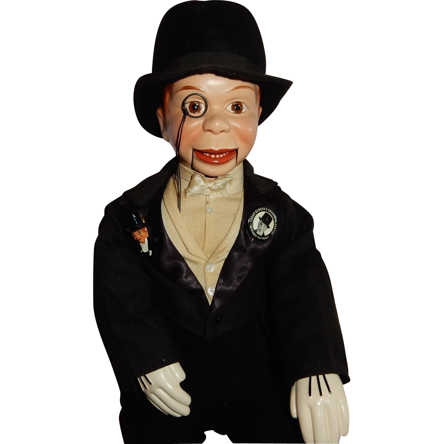 "WONDERFUL 20"" Effanbee Charlie McCarthy c.1937"