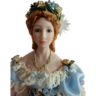 "EXQUISITE 1/12"" Scale Artist Original Dollhouse Doll"