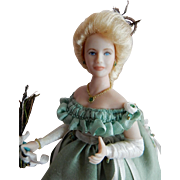 "PRETTY 1/12"" Scale Artist Original Edwardian Style Lady of the House Dollhouse Doll"