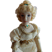 "ROMANTIC 1/12"" Scale  Artist Made Dollhouse Doll in the Regency Style"