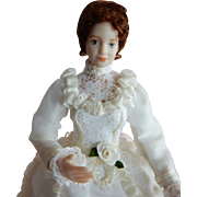 "WONDERFUL 1/12"" Scale Dollhouse Doll with Moveable Head"