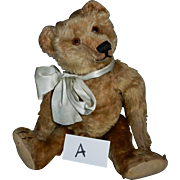 "HANDSOME 15"" Early Steiff Teddy Bear with Glass Eyes c. 1920's"