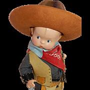 RARE and Wonderful Effanbee Vintage Compo Skippy Cowboy Doll