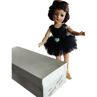 OUTSTANDING and Mint in Box Fresh 1950's Hard Plastic Mary Hoyer Ballerina