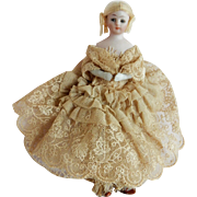 "PRETTY  Simon Halbig 1160 Little Women Doll 6"" Tall"