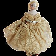 "PRETTY  Simon Halbig 1160 Little Women Doll 6"" Tall"