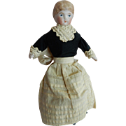 "GREAT 5.5"" Antique German Made Dollhouse Maid Doll"