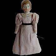 PRETTY German Bisque shoulder head Doll House Lady Doll