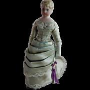 ELEGANT German Bisque Should head Doll House Doll Elegant Lady