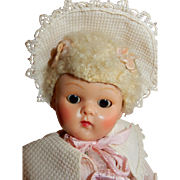 CHARMING Late 1940's early 1950's Vogue Ginny W/Caracul Curly Wig.