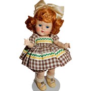 "CUTE 1953 Vogue Ginny ""Tina"" All Original Doll"