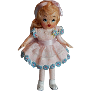 """ADORABLE 1940's Tiny Town Doll """"Betty"""""""
