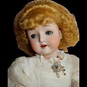 """CHARMIN 22"""" Strobel and Wilken Mold 120 Antique Bisque Doll c.1890's"""