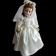 "LOVELY 14 "" Strung Madame Alexander Victorian Bride c.1951-52"