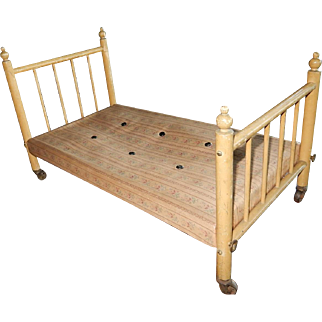 WONDERFUL Old Antique Doll Bed c. early 1900's