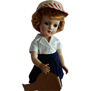 OUTSTANDING 1950's Hard Plastic Mary Hoyer Doll Ready for Tennis