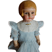"""PRETTY  Martha Chase 15"""" Child Doll with Rare Bobbed Hairstyle c. 1900"""