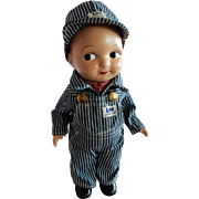 AWESOME 1940's Compo Buddy Lee Railroad Engineer Doll