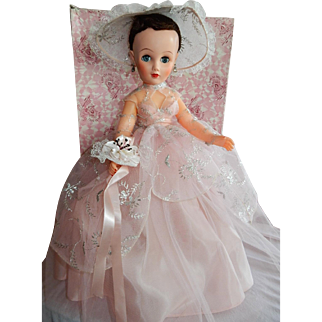 PRISTINE and Rare Condition 1950's Royal Doll Company New York Bridesmaid MIB