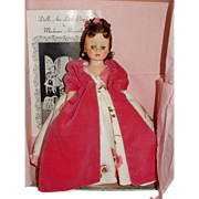 STUNNING Brunette Madame Alexander 1958 Cissette Doll in 873 Pink Silk Camellia Asters Ball Gown