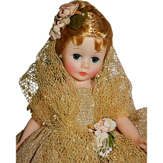 OUTSTANDING Mint in Original Box Cissette in Gold Ball Gown