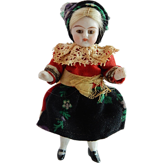 "ALL ORIGINAL Kling 3.5"" Antique All Bisque Doll"