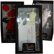 "THREE Beautiful Boxed Outfits for the Franklin Mint Vinyl 16"" Jackie Doll MIB"