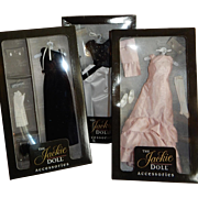 THREE Exquisite Boxed Ball Gown Outfits for the Franklin Mint Jackie Doll