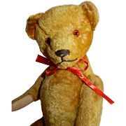 "Delightful 19"" Vintage Teddy Bear c.1940's Possibly Earlier"