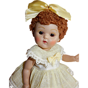 BEAUTIFUL 1952 Caracul Poodle Wig Vogue Ginny Doll in April Outfit
