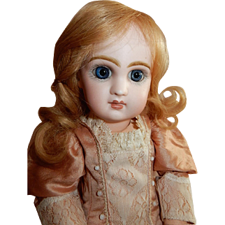 "LOVELY 14"" French Bisque Bebe, Tete Size 5, by Emile Jumeau with Gorgeous Large Eyes"