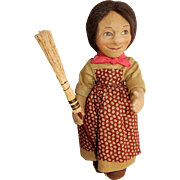 "CUTE 17"" R John Wright Peasant doll Emma c. 1970's early 1980's"