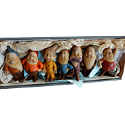 FULL-SET-Seiberling-Latex-1938 Walt-Disney Seven-Dwarves  Movie Tie In Toy