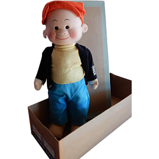 "PERFECT Mint in Box Georgene Doll SLUGGO from the ""Nancy"" Comics 1945"